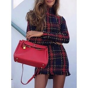 Dresses & Skirts - Vintage Woken Plaid Dress